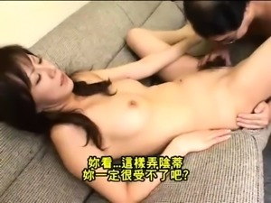 Slutty Japanese wife has a group of guys plowing her holes