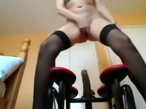 Sensual stockings tease and jerk off encouragement