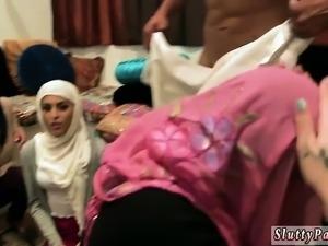 Skinny teen Hot arab damsels attempt foursome