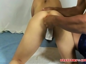 Big Red Apple In Tiny Asian Ass