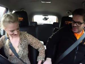 Fake Driving School Blonde Polish babes pussy