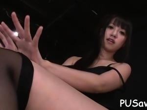 Appetizing nipponese Kotomi Asakura fingering herself by cw