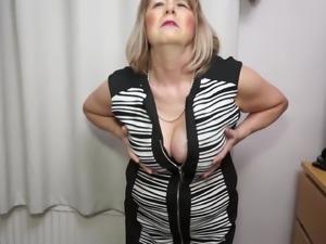 British curvy Mature Lady Jane playing with herself