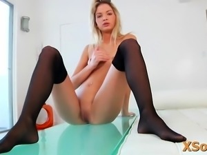 Admirable blonde young chick Franziska Facella all about me