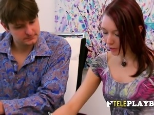 mateur swinger couple signs a contract