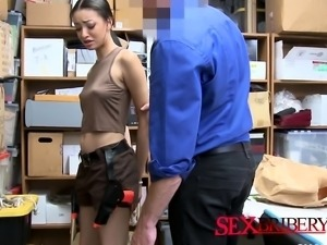 Security guard gets sucked in the office
