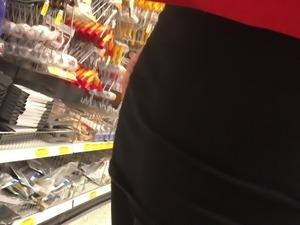 Slut german girl in Shiny black opaque tights
