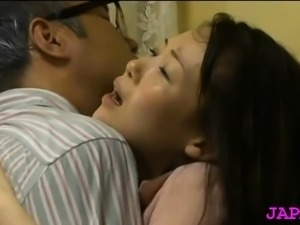 Bewitching oriental older gets her good tits played with
