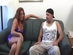 Surprise for blindfolded mother