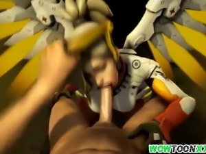 Mercy and other Overwatch babes fucked