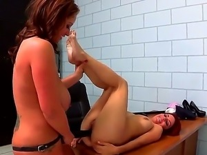 Bad girl Ashley Graham is getting her trimmed pussy devoured by lusty police...