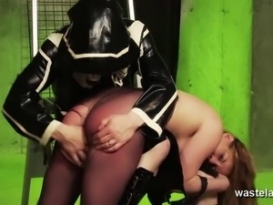 Master spanks his sex slave in her pantyhoes