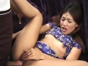 Cute little Indian beauty loves cock