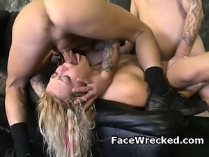 Blonde Amateur Slut Cries During Very Rough Face Fucking