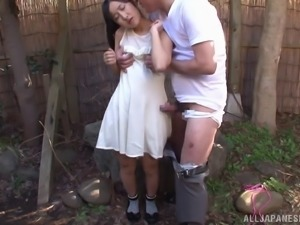 Nasty Japanese Teen In Socks Gangbanged In A Outdoor Cumshot