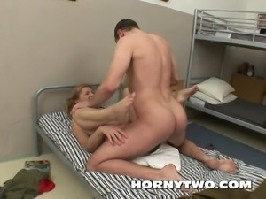 Chubby old mature fucking young guy not her son very long
