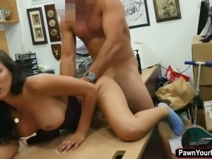 Hot latina babe fucks a huge dick for cash and revenge