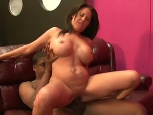 Black kinky man fucks busty European housewife Grace Evangeline and the licks...
