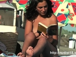 Public nudist voyeur gets a really hot nudist video