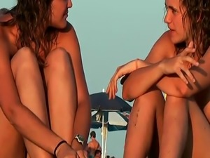 Nudist beach voyeur vid with amazing nudist teens