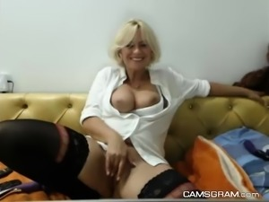 Hottest Blonde Whore Fucked Herself With Her Sextoy
