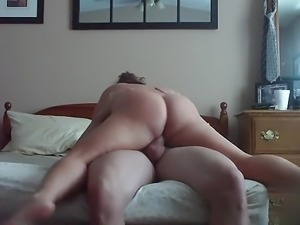 Russian mature mom ride on cock