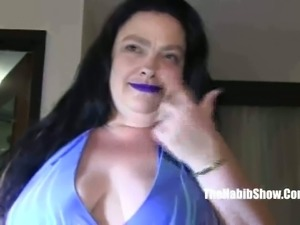 This lustful BBW hooker likes having a ball gag in her mouth during sex