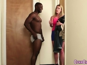Dominas suck black cock