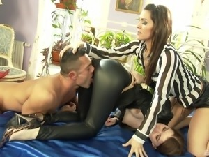 Dirty asslicking moments with sluts Samia Duarte and Misha Cross