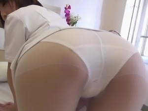 Worshiping the ass of a hot brunette Asian girl and a creampie for her
