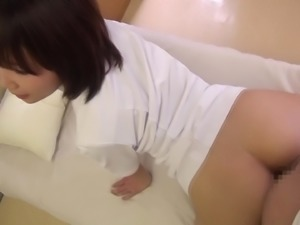 Bent over babe's cunt is all a guy wants to play with
