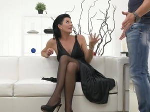 Cum craving mature lady Celine Noiret