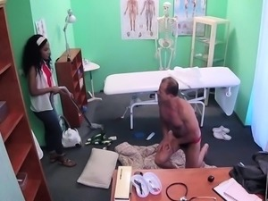 Biggest rod mercilessly bangs wet cunt of a sexy doctor