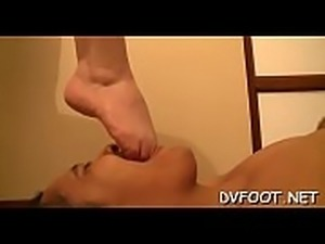 Wicked babe fucks throat with foot and grinds balls and dick