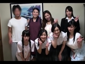 Naughty Asian schoolgirls get their fiery holes drilled hard