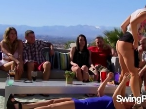 Swingers play ''Would you rather?''.