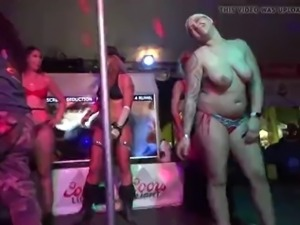 Cacklebery campground pole dancing contest bike week 2019