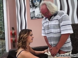 Teen spermed by old dude