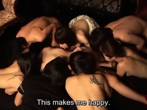 JAV swingers club harem sex party for new member Subtitled