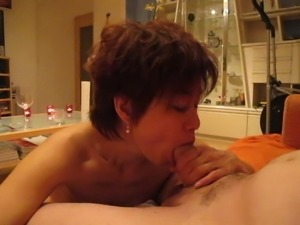 Again a hot cum load from her bull in her mouth incl. swallo
